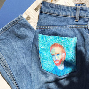 High waisted mom jean - Van Gogh portrait