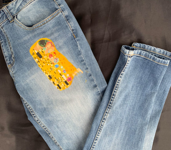 Jean slim fit upcycled - le baiser