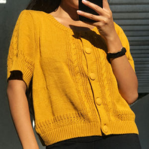 cozy jaune moutarde shirt en maille