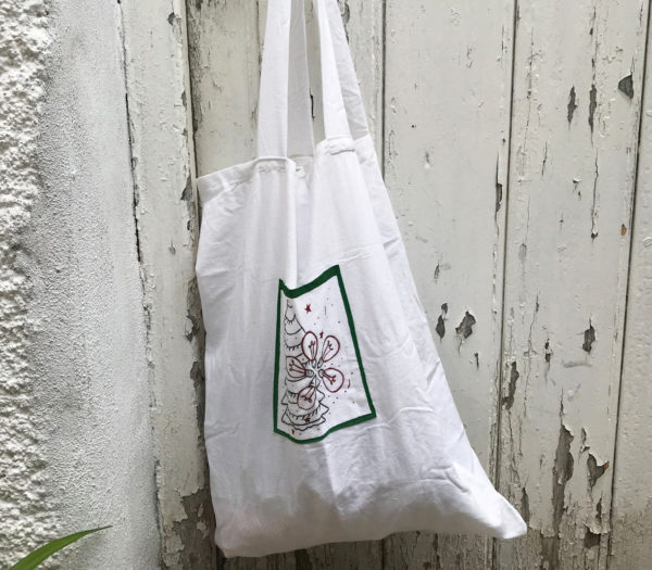 Upcycled tote bag by BUBA's - Party on December