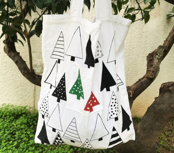 Upcycled tote bag by BUBAS's - All we need for parties I guess