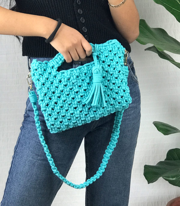 Mini bag en crochet + anse