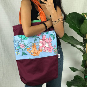 Flower power Chkarty tote bag