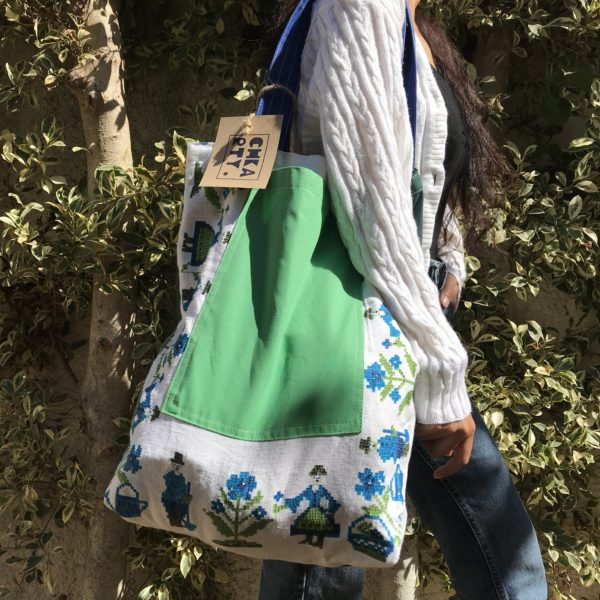 Upcycled tote bag from CHKARTY