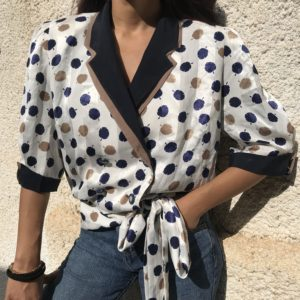 Vintage blouse with dots