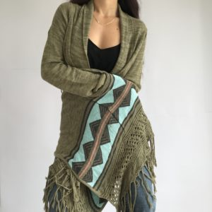 Hippy cozy long gilet