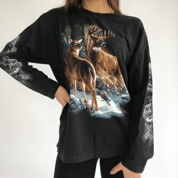 Rock and roll vibe printed cotton shirt