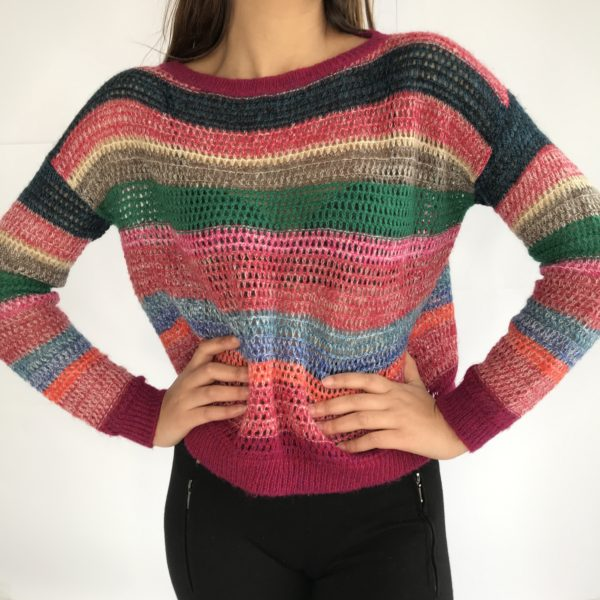 Pull en maille fine - life is a rainbow
