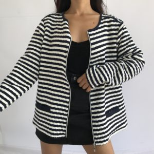 Gilet style bombers à rayures