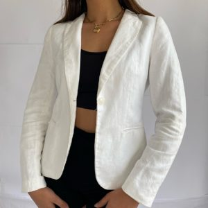 Summer all white chic blazer