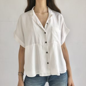 casual flowy all white shirt
