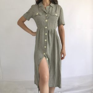 Vintage long all buttoned up