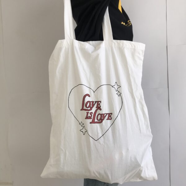 Upcycled tote bag from bubas