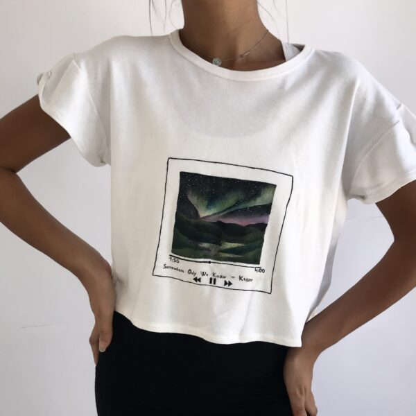 Upcycled all white tee-shirt